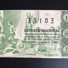 Lotería Nacional: LOTERIA AÑO 1963 SORTEO 34. Lote 194580831