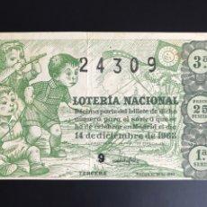 Lotería Nacional: LOTERIA AÑO 1963 SORTEO 35. Lote 194580886