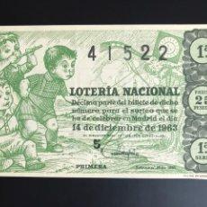 Lotería Nacional: LOTERIA AÑO 1963 SORTEO 35. Lote 194580948