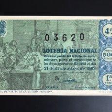 Lotería Nacional: LOTERIA AÑO 1963 SORTEO 36 NAVIDAD. Lote 194581011