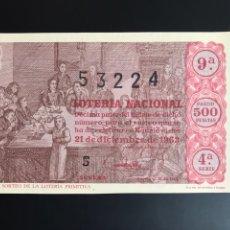 Lotería Nacional: LOTERIA AÑO 1963 SORTEO 36 NAVIDAD. Lote 194581558