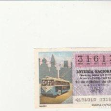 Lotería Nacional: LOTERIA NACIONAL 1979 SORTEO Nº 41 SERIE 10ª NUMERO CAPICUA 31613. Lote 194613443
