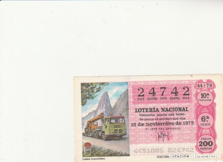 LOTERIA NACIONAL 1979 SORTEO Nº 44 SERIE 6ª NUMERO CAPICUA 24742 (Coleccionismo - Lotería Nacional)