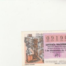 Lotería Nacional: LOTERIA NACIONAL 1979 SORTEO Nº 48 SERIE 15ª NUMERO CAPICUA 09190. Lote 194614042
