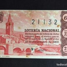 Lotería Nacional: LOTERIA AÑO 1962 SORTEO 35. Lote 194629380