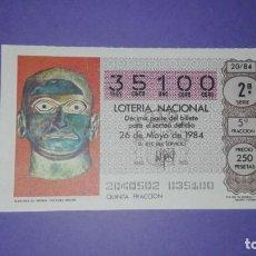 Lotería Nacional: DECIMO DE LOTERIA 35100. Lote 194644858