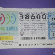 Lotería Nacional: DECIMO DE LOTERIA 38600. Lote 194645165