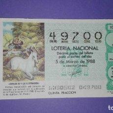 Lotería Nacional: DECIMO DE LOTERIA 49700. Lote 194645222
