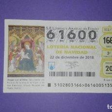 Lotería Nacional: DECIMO DE LOTERIA 61600. Lote 194645386