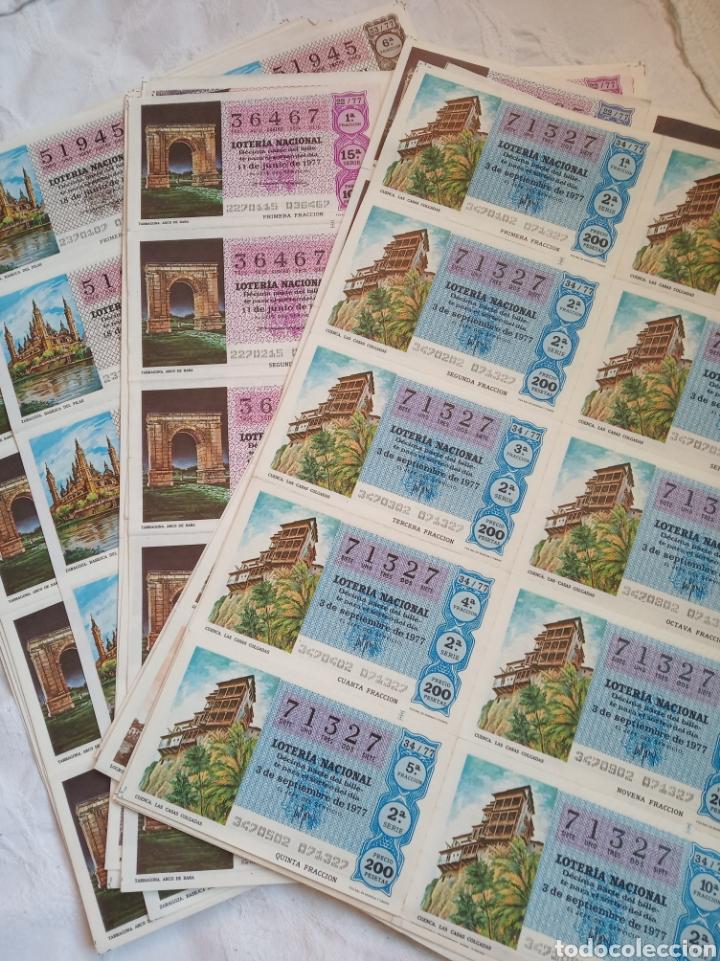 Lotería Nacional: Lote loteria nacional años 70. Series y decimos. Loterias.cupones.juego.años 70 - Foto 2 - 194659680