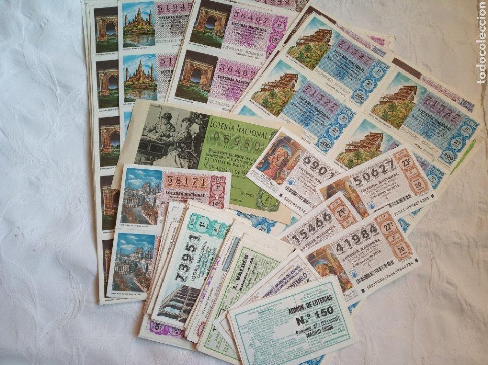 LOTE LOTERIA NACIONAL AÑOS 70. SERIES Y DECIMOS. LOTERIAS.CUPONES.JUEGO.AÑOS 70 (Coleccionismo - Lotería Nacional)