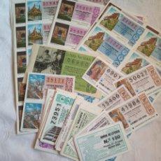 Lotería Nacional: LOTE LOTERIA NACIONAL AÑOS 70. SERIES Y DECIMOS. LOTERIAS.CUPONES.JUEGO.AÑOS 70. Lote 194659680