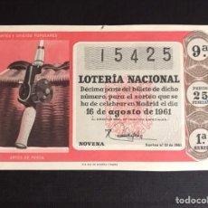 Lotería Nacional: LOTERIA AÑO 1961 SORTEO 23. Lote 194664276