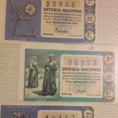 Lotería Nacional: LOTERIA NACIONAL DE 1961 LOTE DE DECIMOS. Lote 194720227