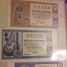 Lotería Nacional: 1961 LOTERIA NACIONAL LOTE DECIMOS. Lote 194720357