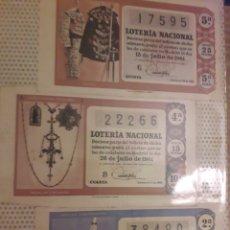 Lotería Nacional: 1961 LOTERIA NACIONAL LOTE DECIMOS. Lote 194720470