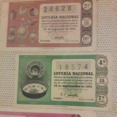 Lotería Nacional: LOTERIA NACIONAL DE 1961 LOTE DECIMOS. Lote 194720758