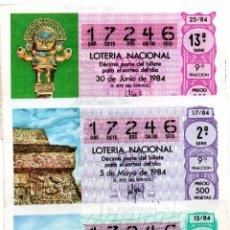 Lotería Nacional: LOT. NACIONAL - AÑO 1984 - SORTEOS 5, 8, 15, 17 Y 25 -. Lote 194741216