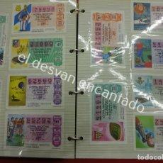 Lotería Nacional: LOTE DE 464 DÉCIMOS LOTERIA NACIONAL COLECCIONADOS EN DOS ALBUMES. AÑOS 80-90S. Lote 194864115
