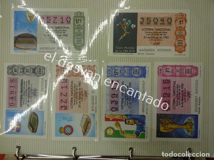 Lotería Nacional: Lote de 464 décimos LOTERIA NACIONAL coleccionados en dos albumes. Años 80-90s - Foto 2 - 194864115