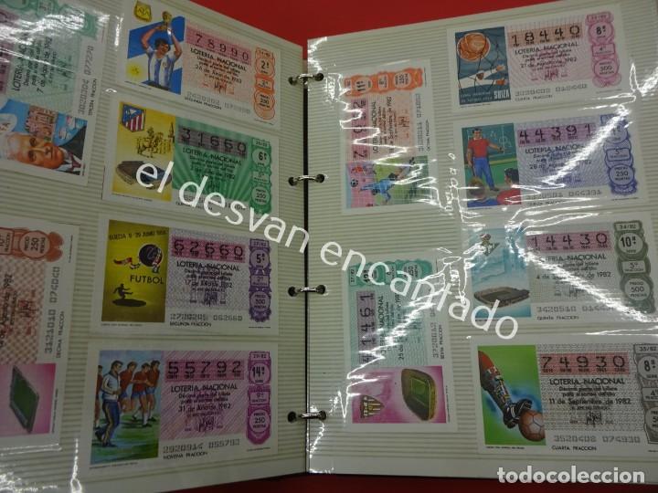 Lotería Nacional: Lote de 464 décimos LOTERIA NACIONAL coleccionados en dos albumes. Años 80-90s - Foto 3 - 194864115