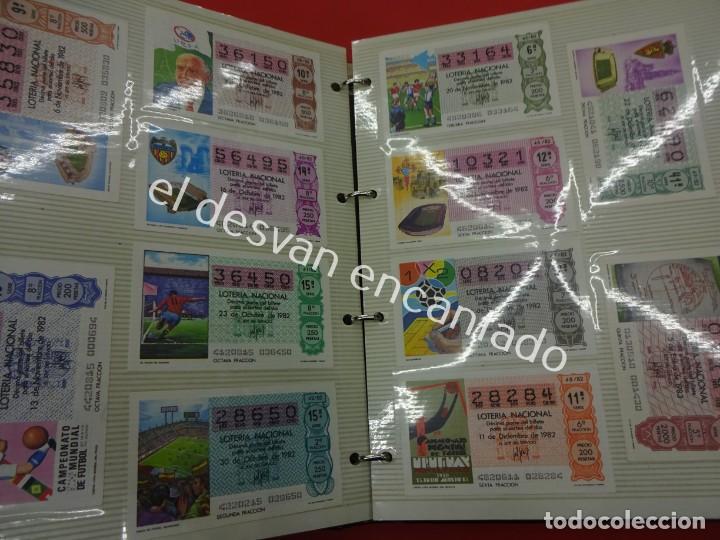 Lotería Nacional: Lote de 464 décimos LOTERIA NACIONAL coleccionados en dos albumes. Años 80-90s - Foto 4 - 194864115