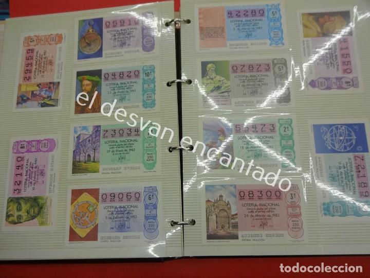 Lotería Nacional: Lote de 464 décimos LOTERIA NACIONAL coleccionados en dos albumes. Años 80-90s - Foto 5 - 194864115