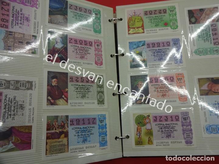 Lotería Nacional: Lote de 464 décimos LOTERIA NACIONAL coleccionados en dos albumes. Años 80-90s - Foto 6 - 194864115