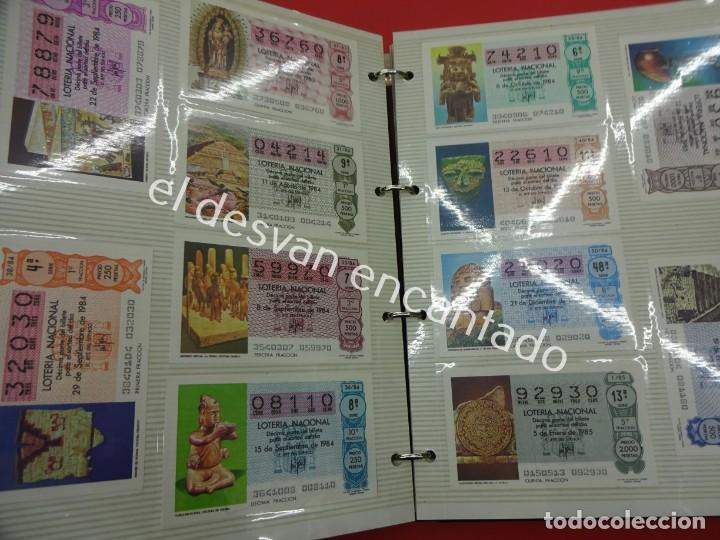 Lotería Nacional: Lote de 464 décimos LOTERIA NACIONAL coleccionados en dos albumes. Años 80-90s - Foto 7 - 194864115