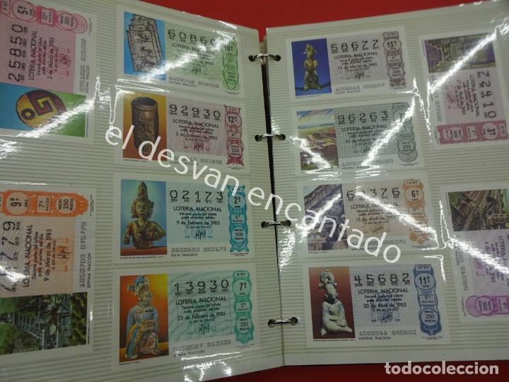 Lotería Nacional: Lote de 464 décimos LOTERIA NACIONAL coleccionados en dos albumes. Años 80-90s - Foto 8 - 194864115