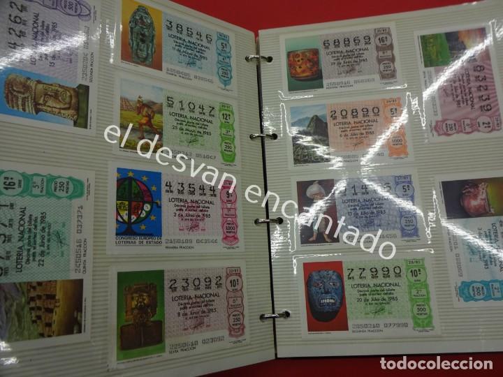 Lotería Nacional: Lote de 464 décimos LOTERIA NACIONAL coleccionados en dos albumes. Años 80-90s - Foto 9 - 194864115