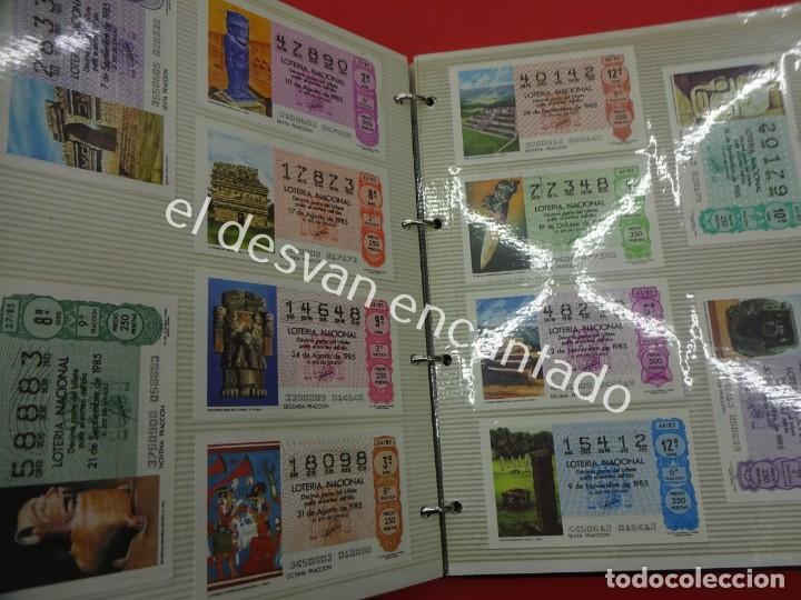 Lotería Nacional: Lote de 464 décimos LOTERIA NACIONAL coleccionados en dos albumes. Años 80-90s - Foto 11 - 194864115