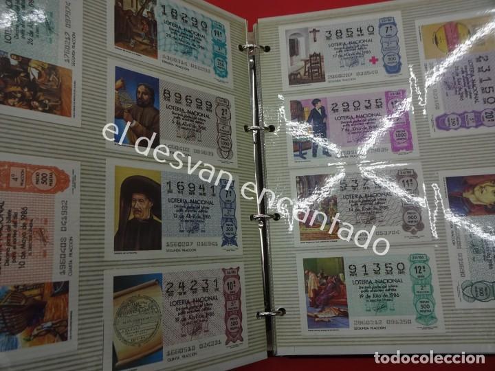 Lotería Nacional: Lote de 464 décimos LOTERIA NACIONAL coleccionados en dos albumes. Años 80-90s - Foto 13 - 194864115