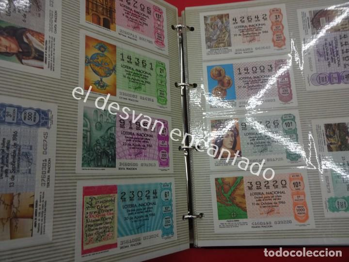 Lotería Nacional: Lote de 464 décimos LOTERIA NACIONAL coleccionados en dos albumes. Años 80-90s - Foto 14 - 194864115