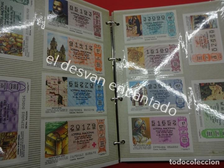 Lotería Nacional: Lote de 464 décimos LOTERIA NACIONAL coleccionados en dos albumes. Años 80-90s - Foto 15 - 194864115