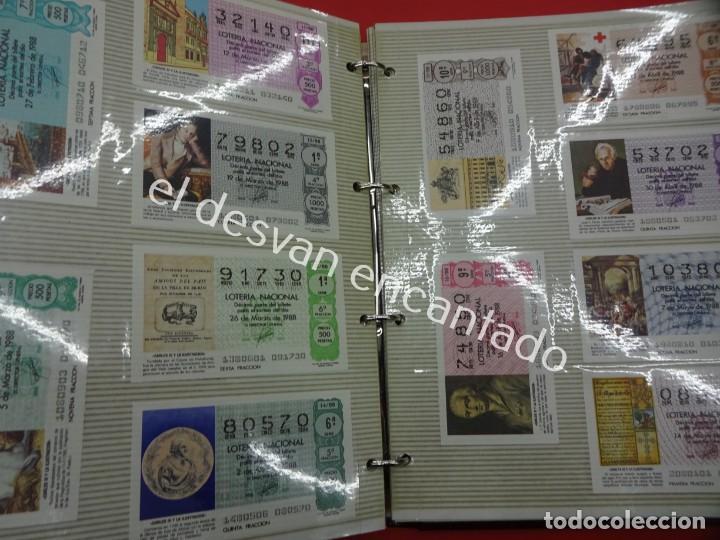Lotería Nacional: Lote de 464 décimos LOTERIA NACIONAL coleccionados en dos albumes. Años 80-90s - Foto 16 - 194864115