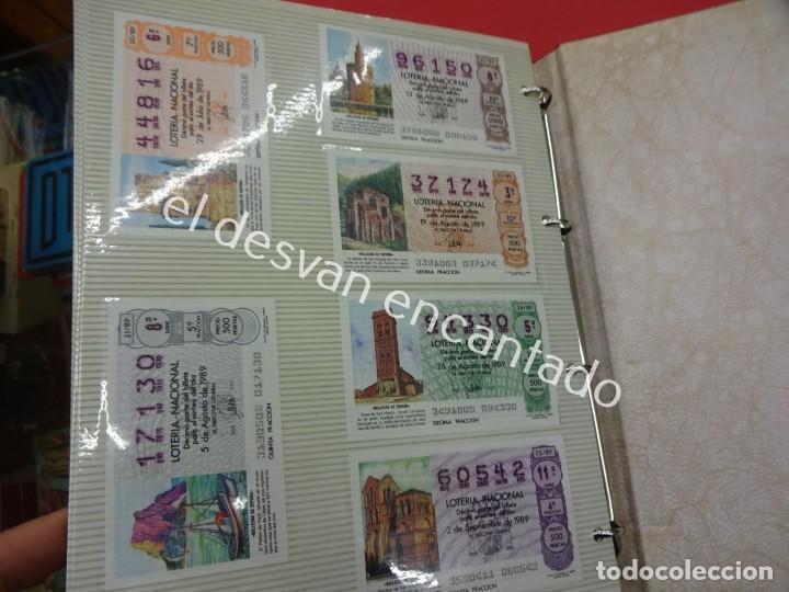 Lotería Nacional: Lote de 464 décimos LOTERIA NACIONAL coleccionados en dos albumes. Años 80-90s - Foto 18 - 194864115