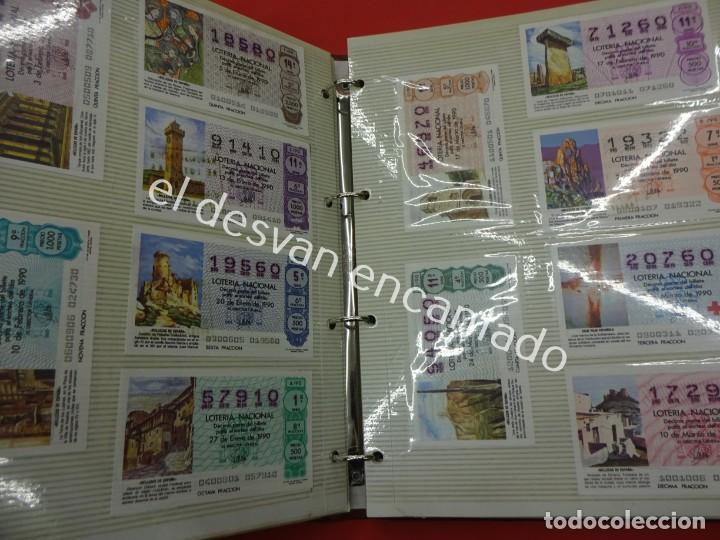 Lotería Nacional: Lote de 464 décimos LOTERIA NACIONAL coleccionados en dos albumes. Años 80-90s - Foto 19 - 194864115
