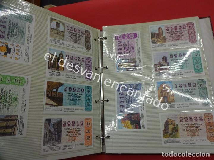 Lotería Nacional: Lote de 464 décimos LOTERIA NACIONAL coleccionados en dos albumes. Años 80-90s - Foto 20 - 194864115