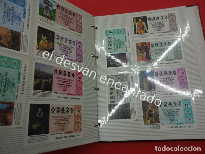 Lotería Nacional: Lote de 464 décimos LOTERIA NACIONAL coleccionados en dos albumes. Años 80-90s - Foto 22 - 194864115