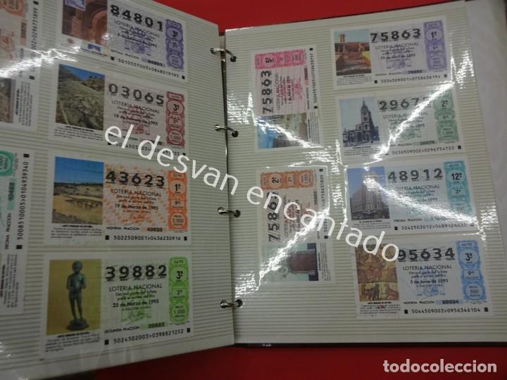 Lotería Nacional: Lote de 464 décimos LOTERIA NACIONAL coleccionados en dos albumes. Años 80-90s - Foto 24 - 194864115