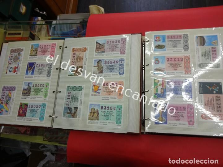 Lotería Nacional: Lote de 464 décimos LOTERIA NACIONAL coleccionados en dos albumes. Años 80-90s - Foto 25 - 194864115