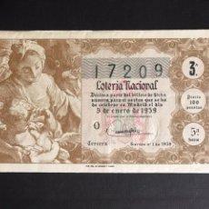 Lotería Nacional: LOTERIA AÑO 1959 SORTEO 1. Lote 194881928