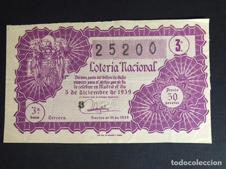 LOTERIA AÑO 1959 SORTEO 34 (Coleccionismo - Lotería Nacional)