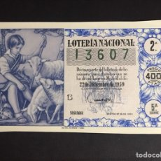 Lotería Nacional: LOTERIA AÑO 1959 SORTEO 36 NAVIDAD. Lote 194888225