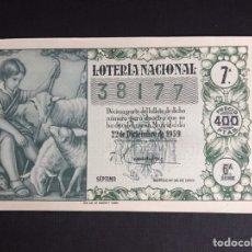 Lotería Nacional: LOTERIA AÑO 1959 SORTEO 36 NAVIDAD. Lote 194888292