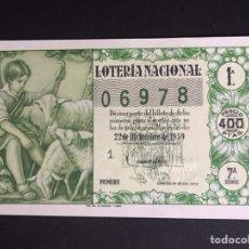 Lotería Nacional: LOTERIA AÑO 1959 SORTEO 36 NAVIDAD. Lote 194888361