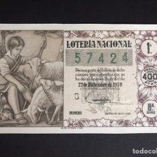 Lotería Nacional: LOTERIA AÑO 1959 SORTEO 36 NAVIDAD. Lote 194888408