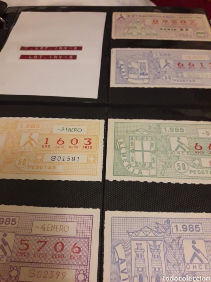 LOTE LOTERIA CUPON PRO CIEGOS ENERO DE 1985 (Coleccionismo - Lotería Nacional)