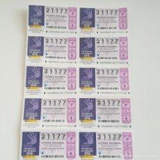 Lotería Nacional: BILLETE LOTERÍA NACIONAL, SORTEO 94/19,23 NOVBRE 2019,ELIMINACIÓN VIOLENCIA CONTRA MUJER,DEFECTO. Lote 194943628